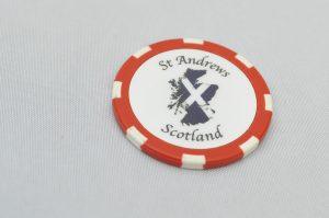 St Andrews Ball Marker Poker Chip